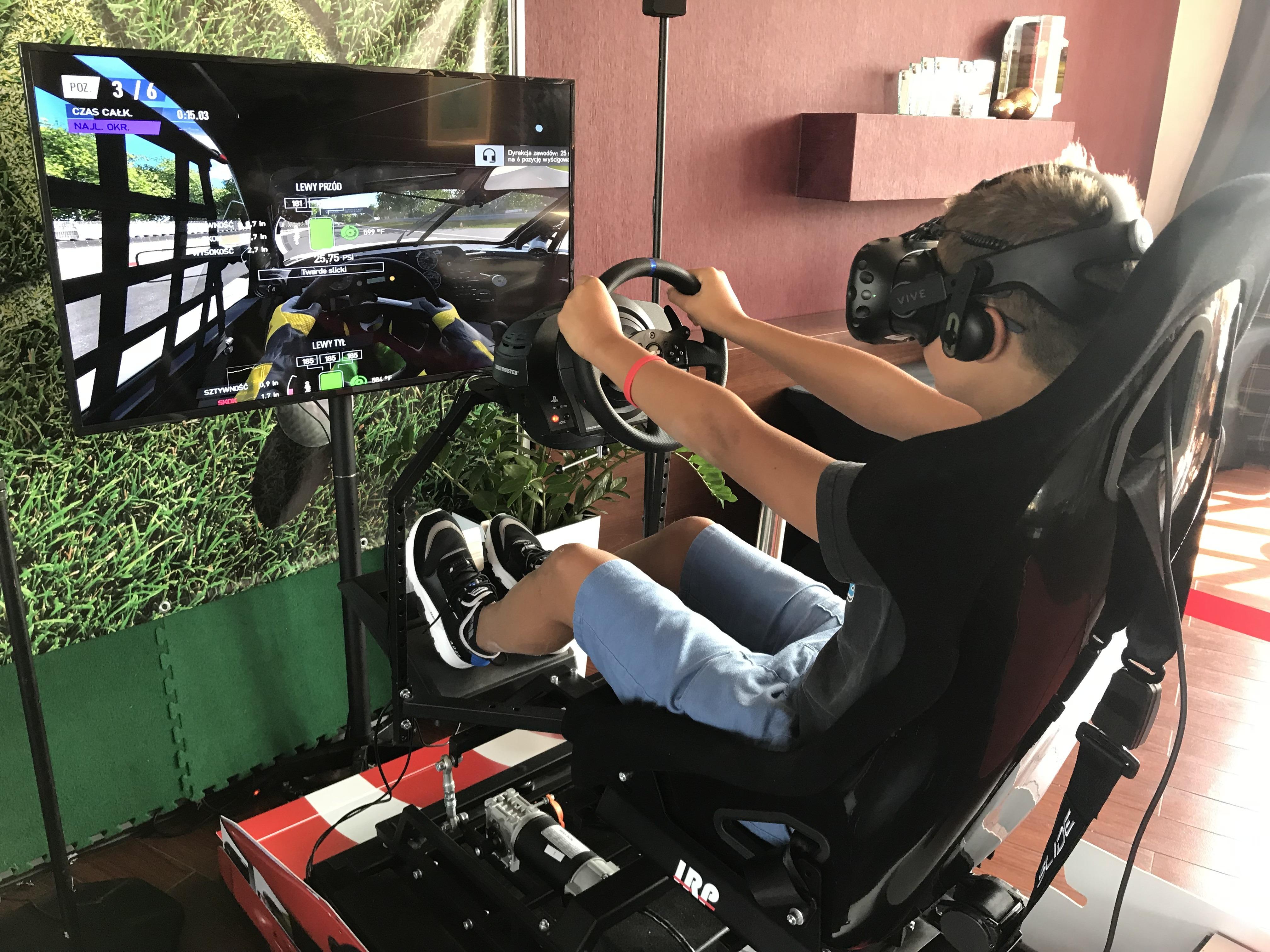 Ruchomy symulator rajdowy VR 3DOF na wynajem